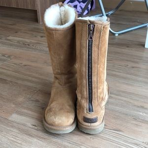 Tall Uggs with Zipper Back